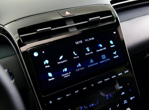 Mittelkonsole mit Touch-Technologie des neuen Hyundai TUCSON