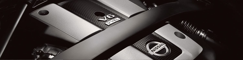 NISSAN 370Z Coupe – бензинов двигател, едър план
