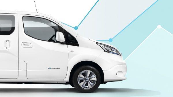 Новият Nissan e-NV200 комби в профил