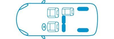 Икона новият Nissan e-NV200 Комби конфигурация с 3 места