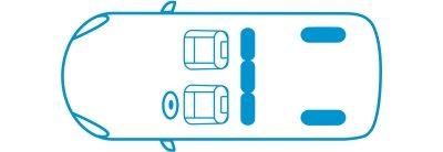 Икона новият Nissan e-NV200 Комби конфигурация с 2 места