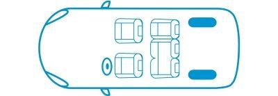 Икона новият Nissan e-NV200 Комби конфигурация с 5 места