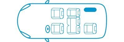 Икона новият Nissan e-NV200 Комби конфигурация със 6 места