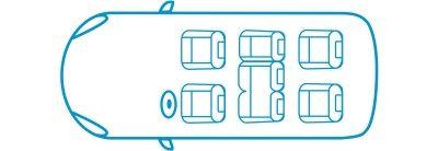 Икона новият Nissan e-NV200 Комби конфигурация със 7 места