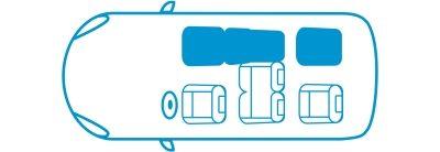 Икона новият Nissan e-NV200 Комби конфигурация с 4 места