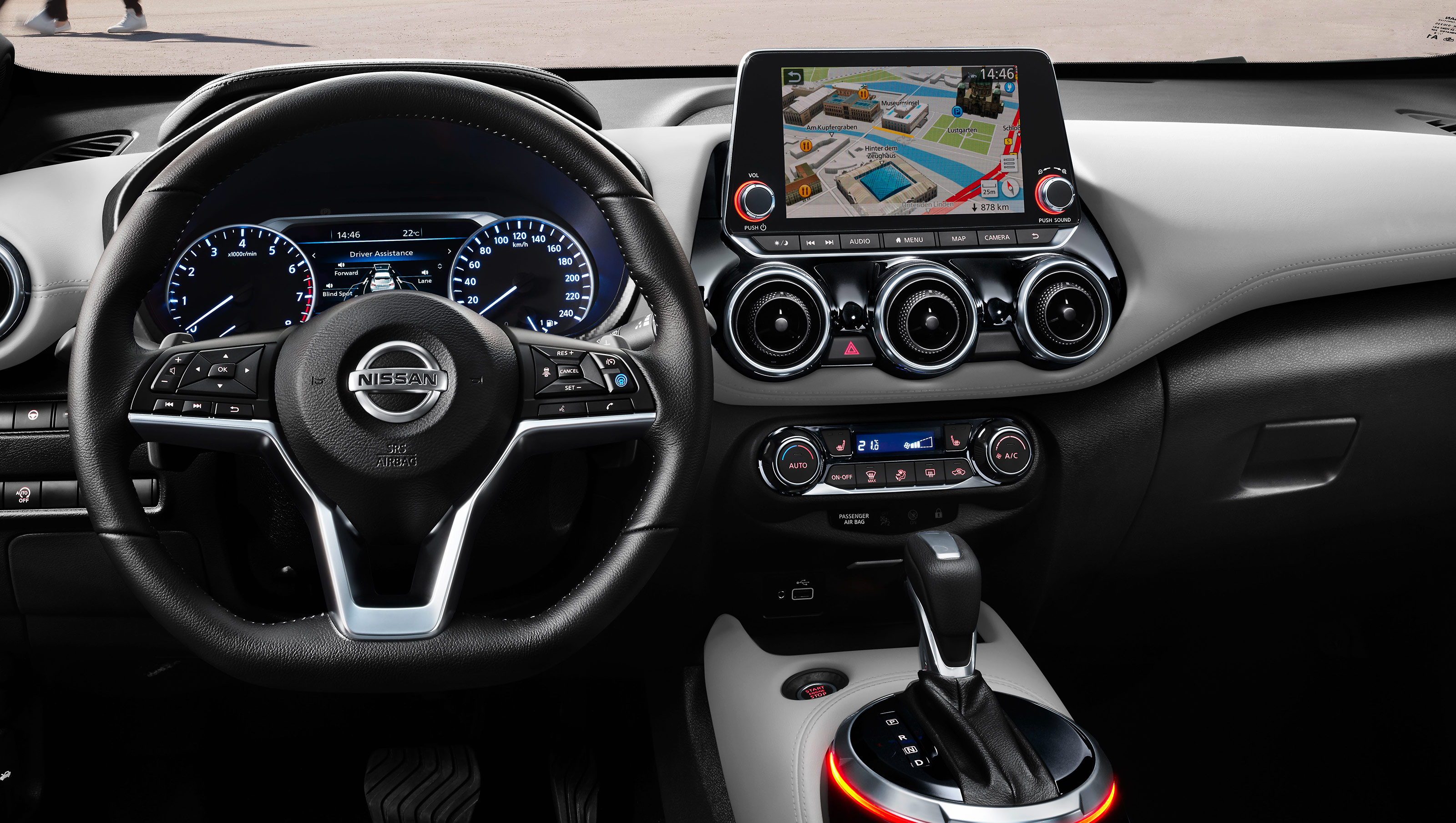 Nissan JUKE immersive driver cockpit