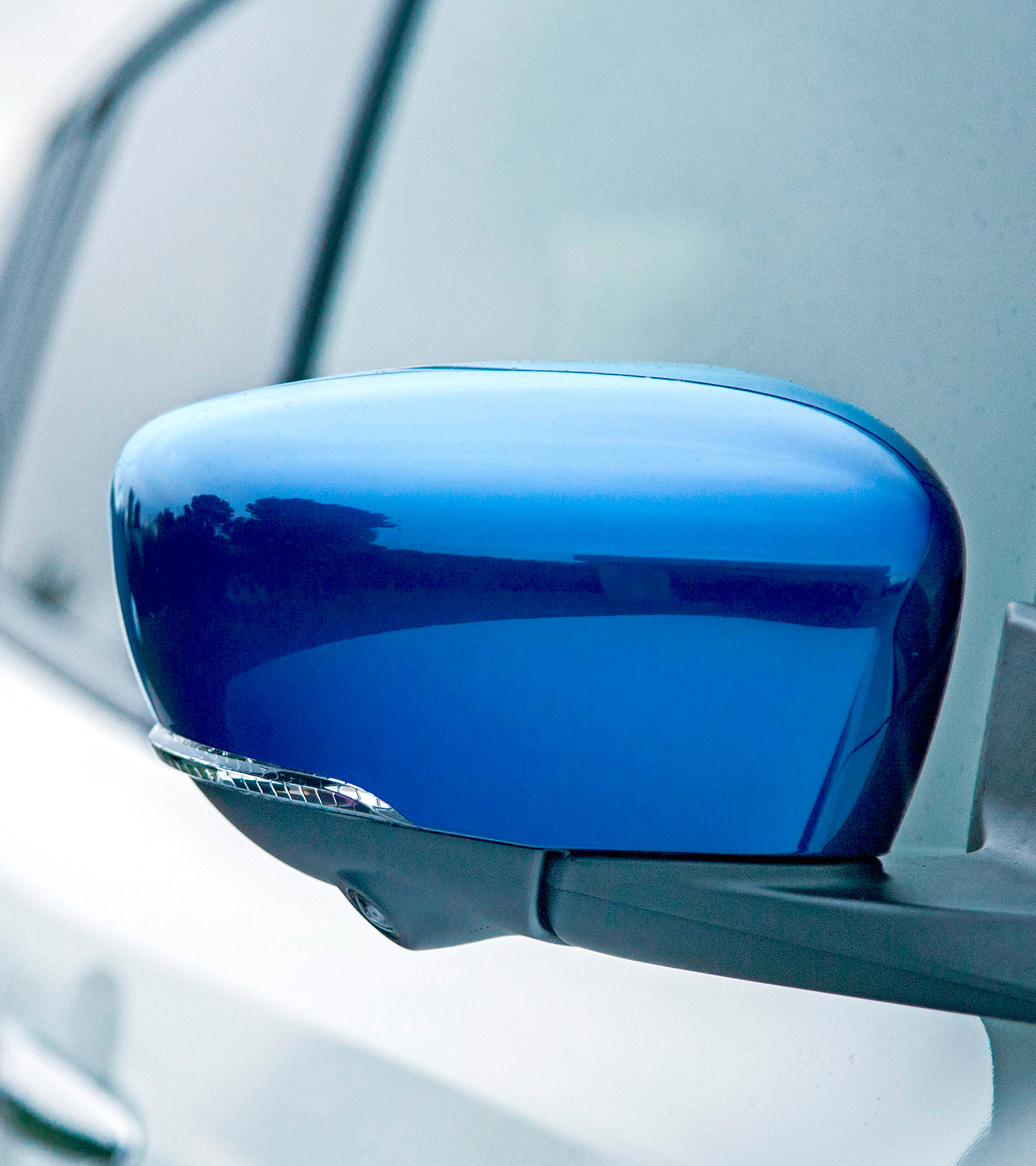 Nissan LEAF blue mirror caps