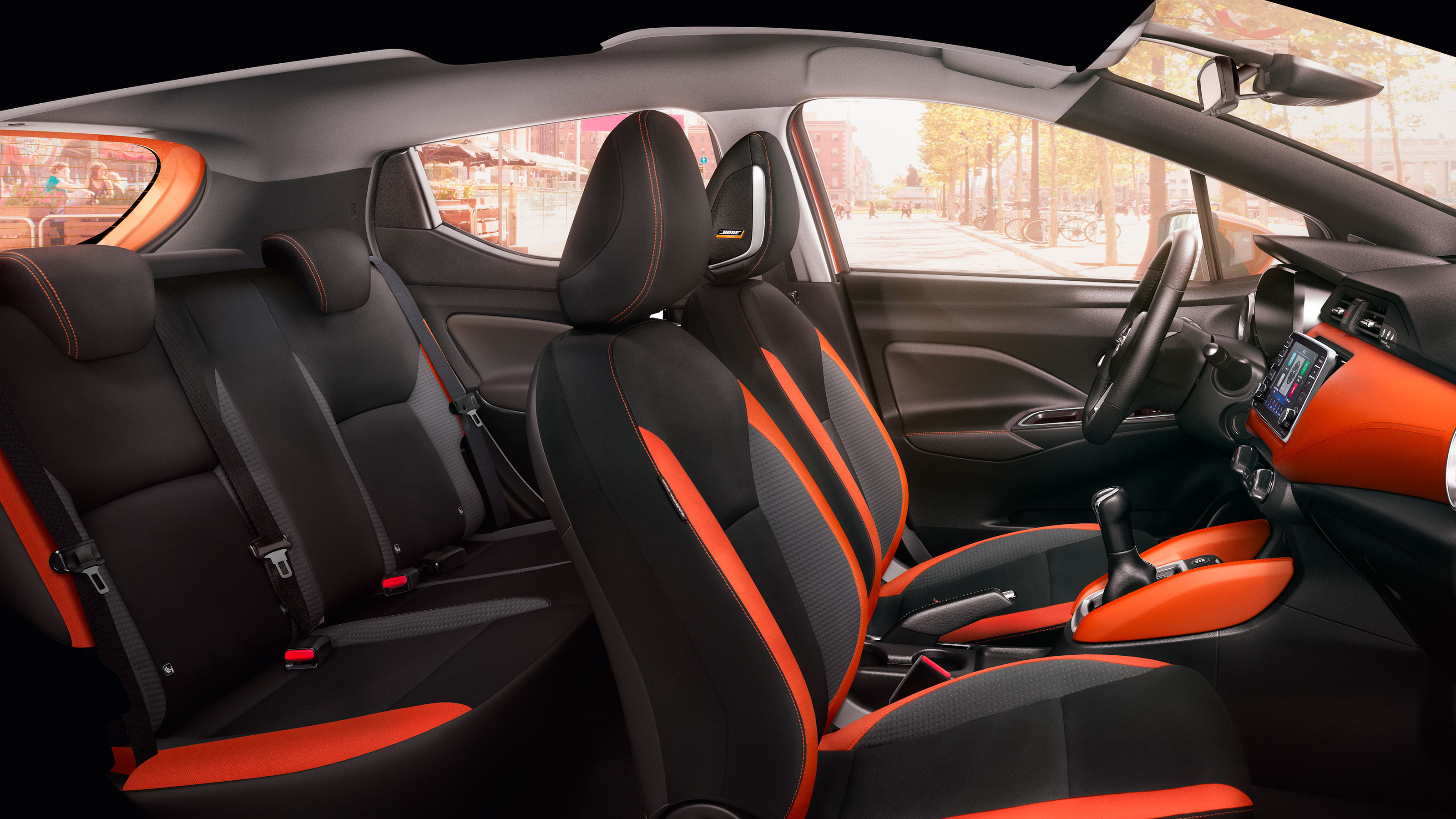Nissan Micra Contrasting Seat Panels