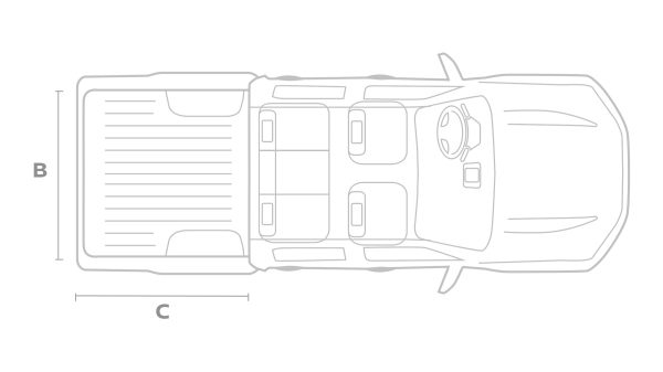 Nissan Navara Double cab top view illustration